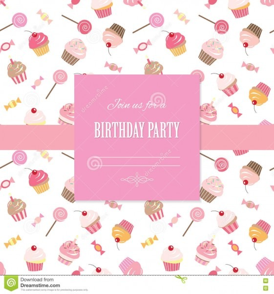 Cute Template For Scrapbook Girly Design  Stock Illustration