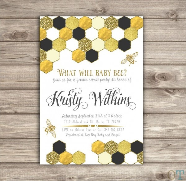 What Will Baby Bee  Gender Reveal Party Invitations Mom To Bee