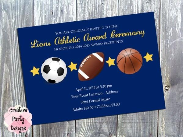 Sports Award Ceremony Invitation
