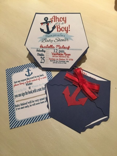 Nautical Diaper Baby Shower Invitation By Enchantedeventsbybj On