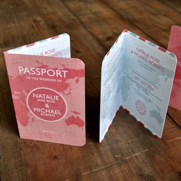 Destination Wedding Invitations Passport