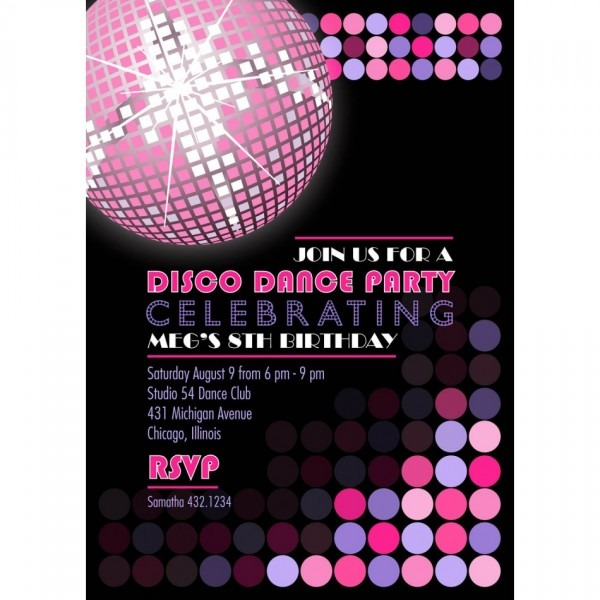 Disco Party Invitations For Simple Invitations Of Your Party