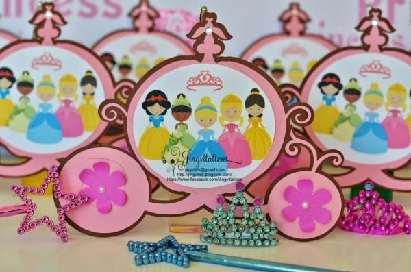 Birthday And Baby Shower Invitations  Handmade Princess Birthday