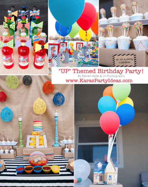 Kara's Party Ideas Disney's  Up  Rainbow Balloon Boy Girl Birthday
