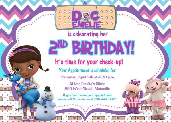Doc Mcstuff Cool Doc Mcstuffins Birthday Invitations Birthday And