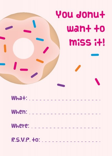 Donut Party Invitations Donut Party Invitations With Inspiring