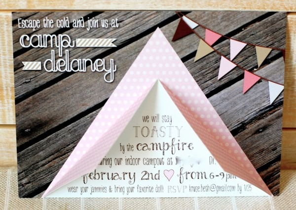 Beth Kruse Custom Creations  Camping Party Invite