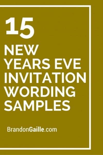 15 New Years Eve Invitation Wording Samples