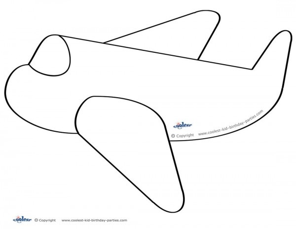 Large Printable Airplane Decoration