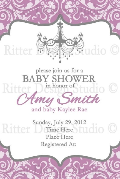 Elegant Baby Shower Invitation Wording