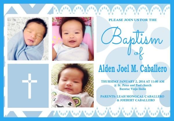 3r Size Invitation (c) Alden Baptism