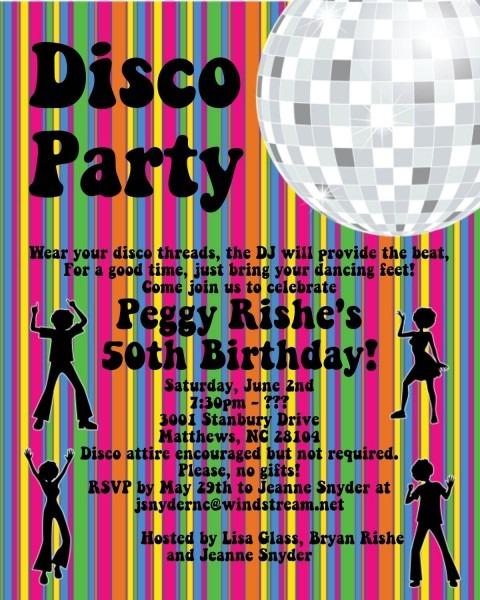 Disco Dance Party Invitation Disco Ball Birthday Invitation 70s