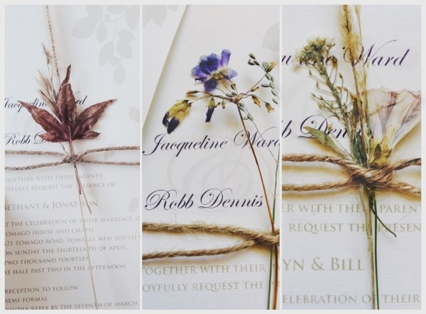 I Loved My Wedding Invitations! I Collected And Dried Flowers Etc