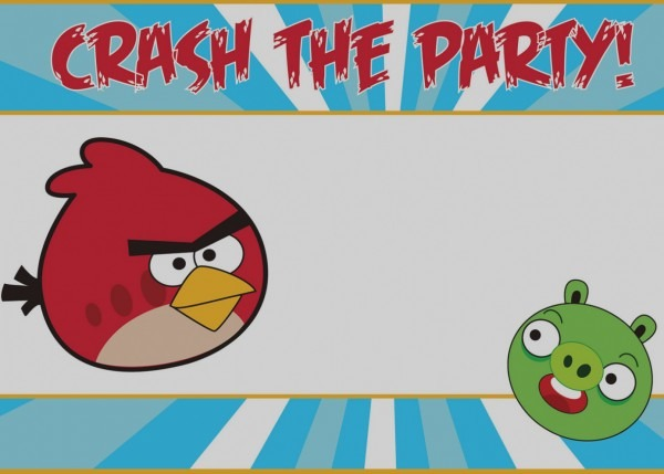 Elegant Angry Birds Birthday Party Invitation Template Free