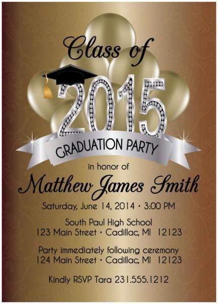 Elegant Graduation Invitations Templates