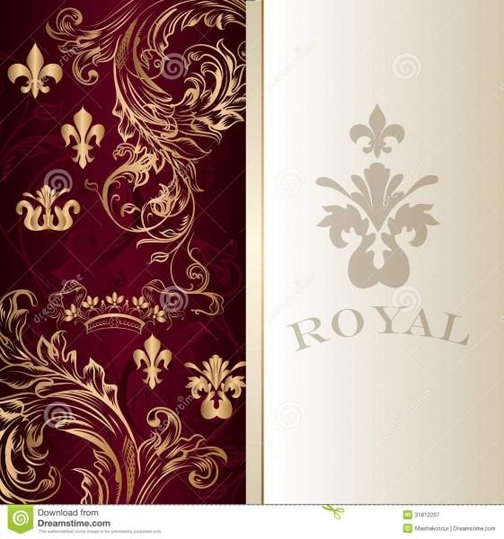 Elegant Invitation Card In Royal Luxury Style Stock Vector