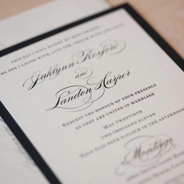 Elegant Wedding Invitation, Classic Invitation, Romantic Wedding