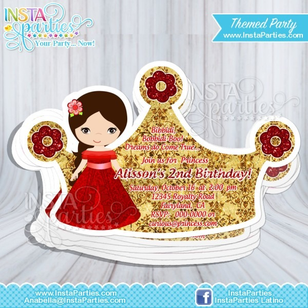 Elena Of Avalor Invitations Party   Princesses Elena Cut Out