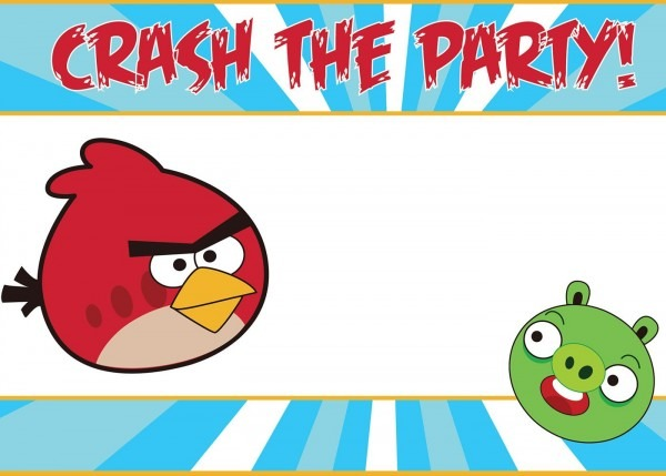Free Printable Angry Birds Invitations