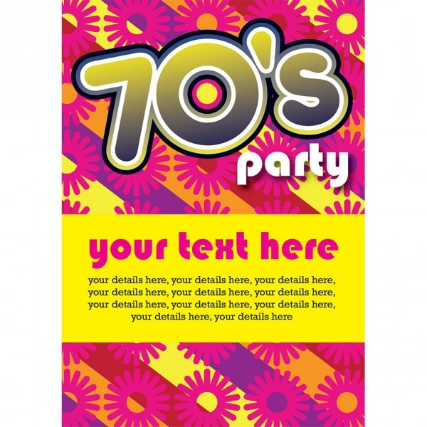 Fascinatin Popular 70s Party Invitations