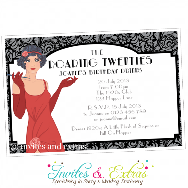 Fcbdcebfdbb Perfect Roaring 20's Party Invitations