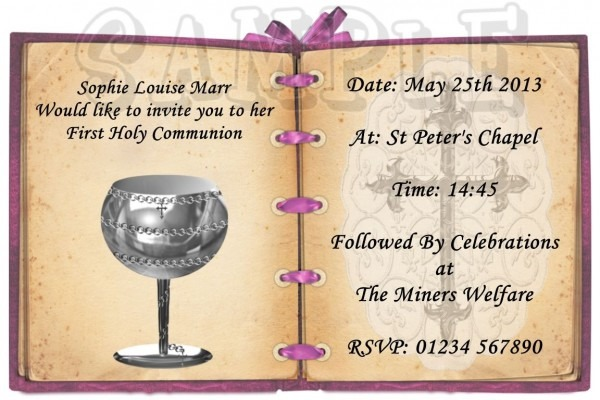 E Invitation Template For Holy Communion