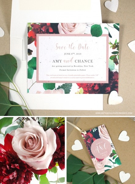 New Floral Wedding Invitations That Can Be Planted To Grow Real