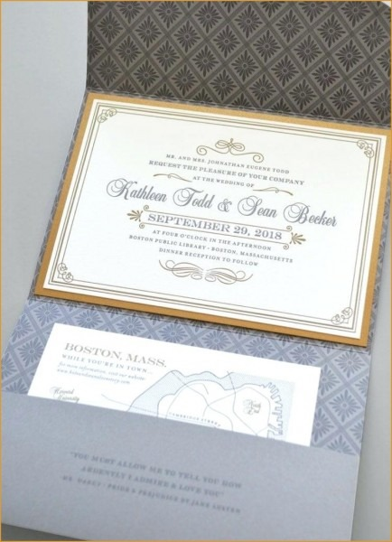 Fresh Flower Seed Wedding Invitations