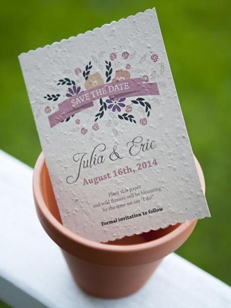 Flower Seed Wedding Invitations