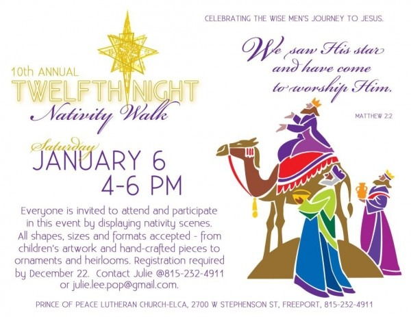 Prince Of Peace, Freeport Invites You To Twelfth Night