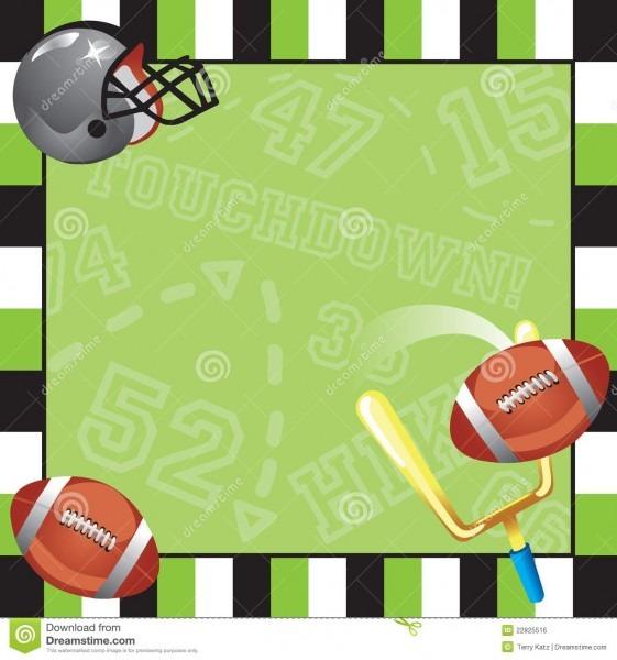 Football Party Invitation Card Stock Vector