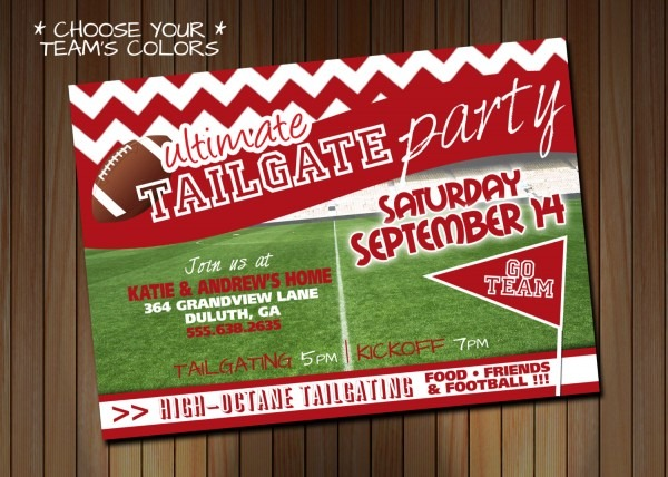 29 Images Of Football Tailgate Invitation Template