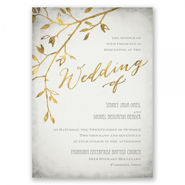 Formal Elegant Wedding Invitations