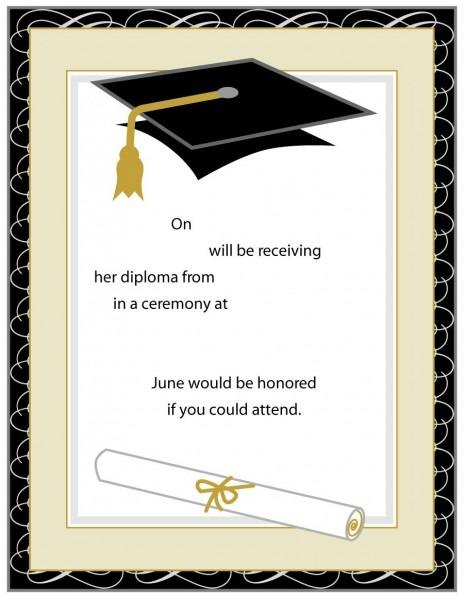 Free Graduation Invitation Templates Unique Designs 5th Grade