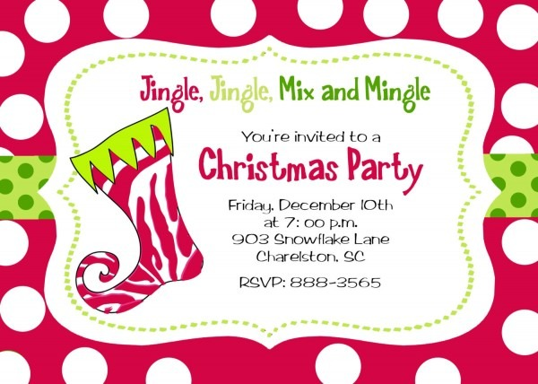 Invitation  Christmas Slumber Party Invitation Wording