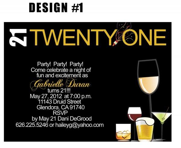21st Birthday Invite Templates • Invitation Template Ideas