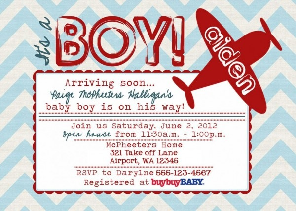 Free Printable Airplane Baby Shower Invitations Boy Antique Etsy