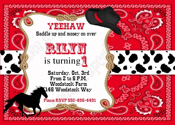 Western Theme Birthday Invitations Free Download Party