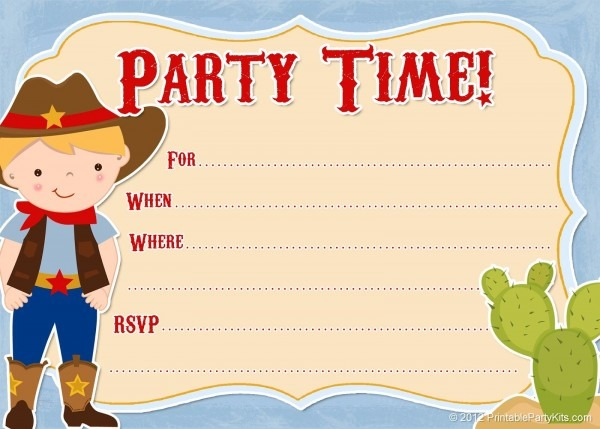 Western Party Invitation Template Beautiful Cowboy Wedding