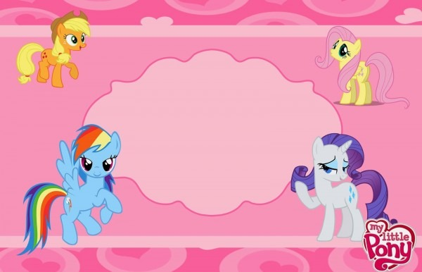 My Little Pony Party  Free Printable Invitations