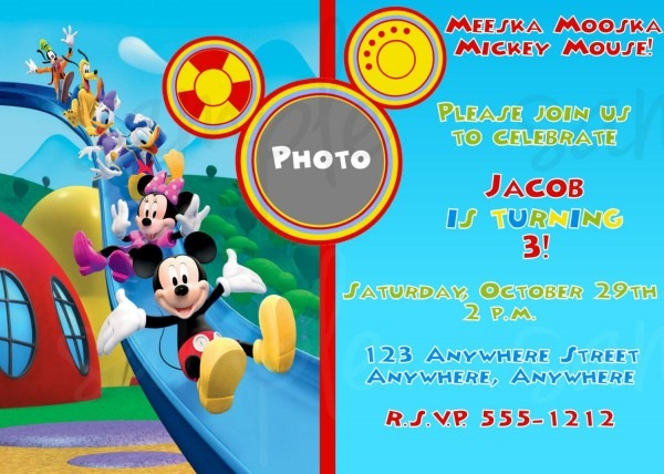 Free Printable Mickey Mouse Clubhouse Birthday Invitations Cute