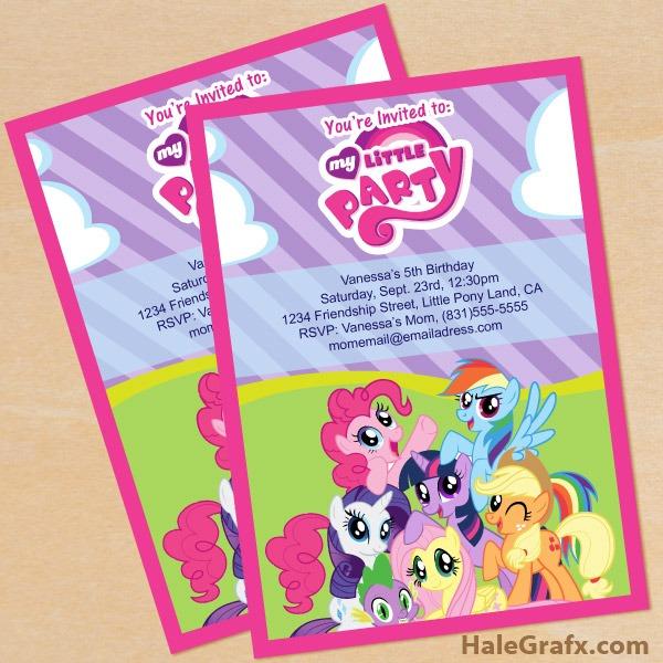 Free Printable My Little Pony Birthday Lovely My Little Pony