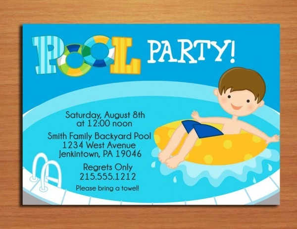 Free Printable Pool Party Cool Kids Pool Party Invitations Amazing