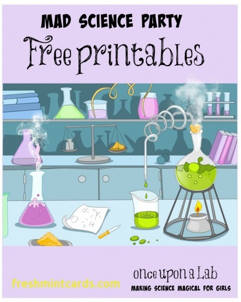 Free Printable Science Birthday Party Invitations Fabulous With