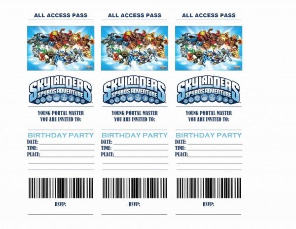 Free Printable Skylanders Birthday Cards Best Free Printable With