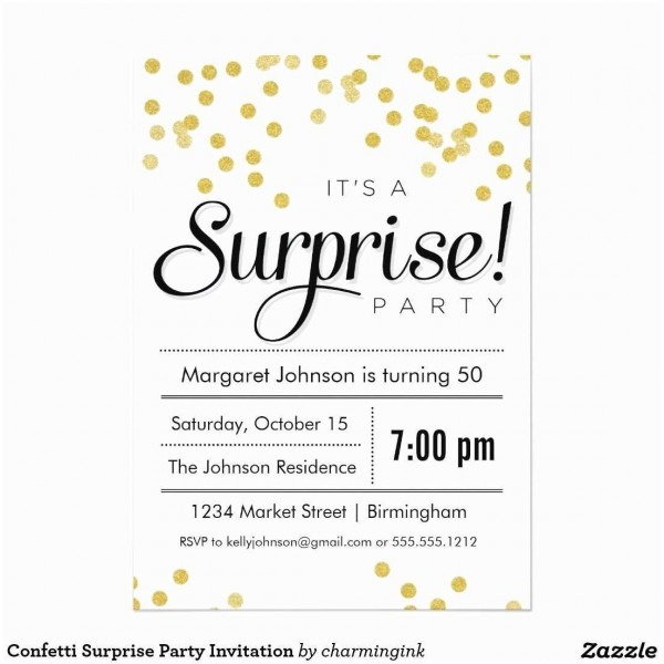 38 Elegant Pictures Of Free Printable Surprise Party Invitation