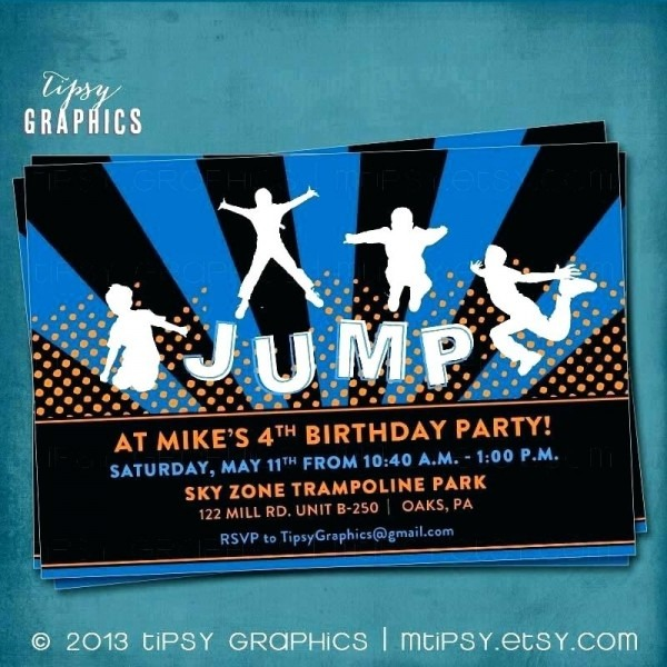 Free Printable Sky Zone Birthday Invitations