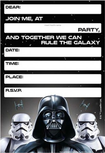 Free Printable Star Wars Birthday Invitations – Template Updated