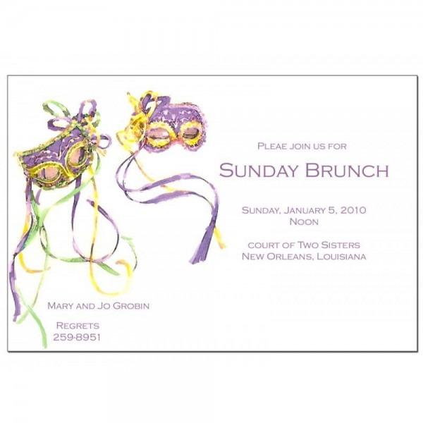 Mardi Gras Mask Invitation Cardstock []