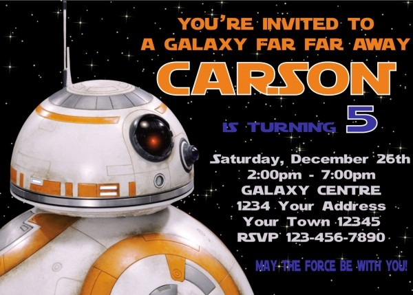 Invitation Star Wars  Excellent Star Wars Birthday Invites Fresh
